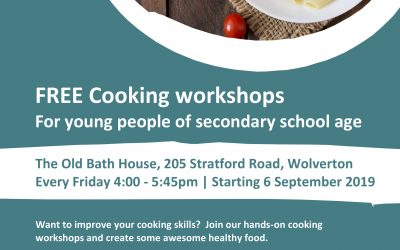 FREE Cooking Workshops for young people of secondary school age